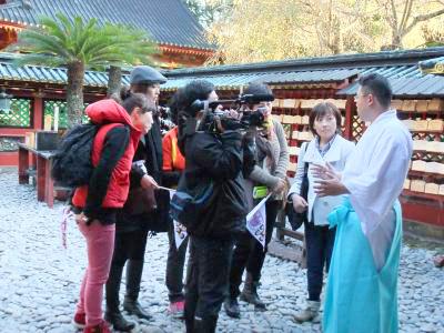 韓国TVクルー静岡取材