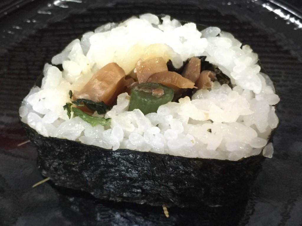 わさび菜いり海苔巻き