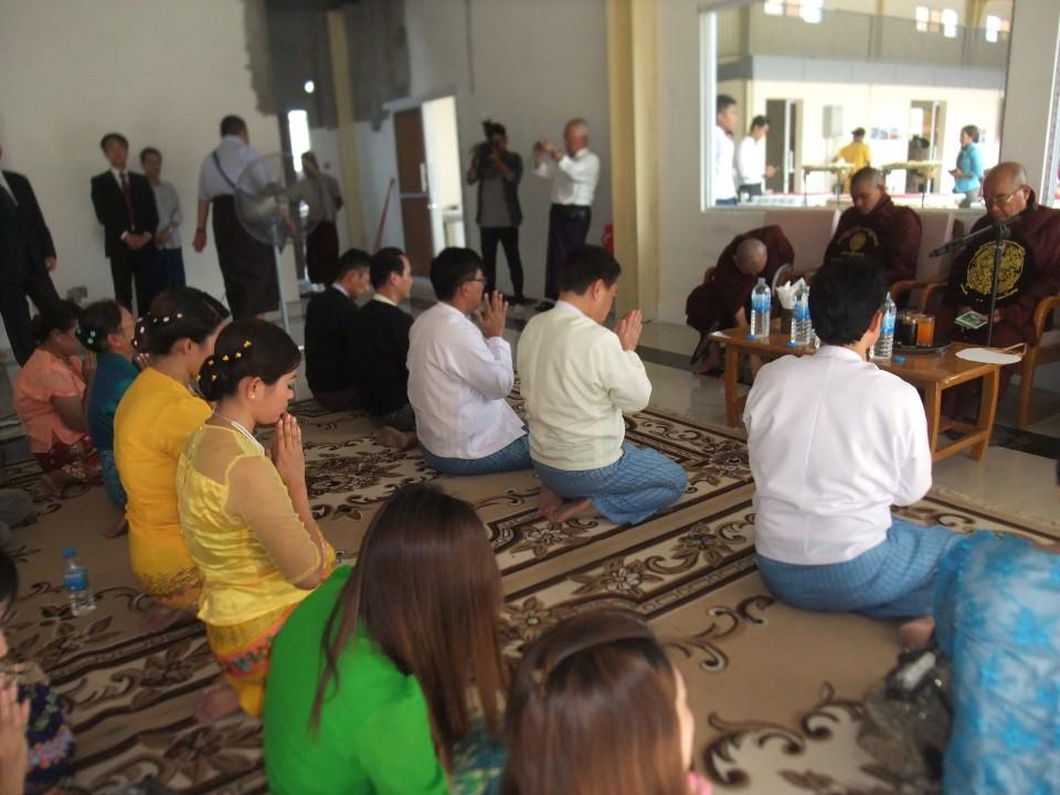 ミャンマー式式典